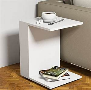 JOUR Tavolino basso da salotto con ruote Bianco materiale in legno Tavolino da divano