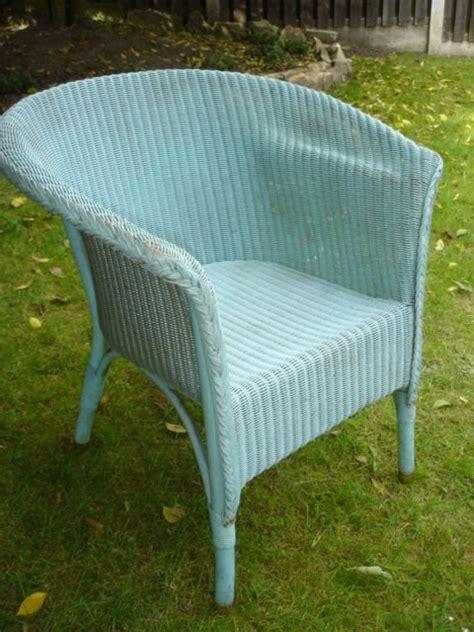 vintage blue lloyd loom chair conservatory chair 117635