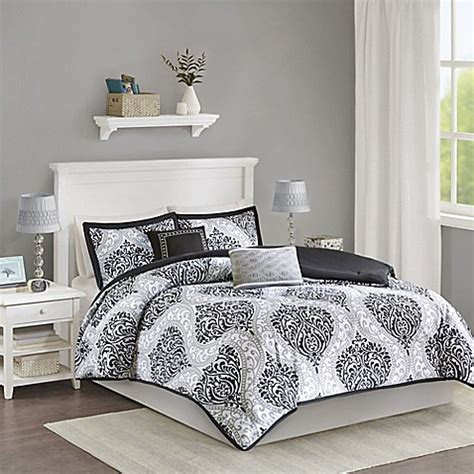 buy senna reversible twin twin xl comforter set in black
