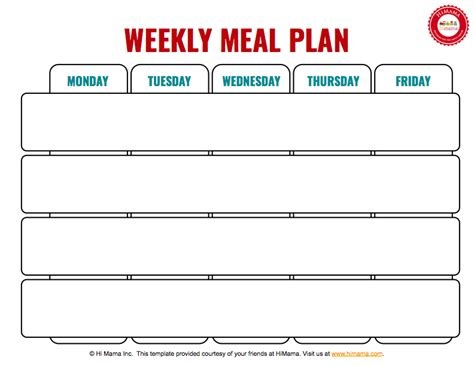 Blank Daycare Menu Template by Himama Daycare Menu Template Child Care Weekly Menu