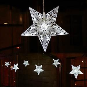 Weihnachtsstern Außen Led : lichterkette mit 6x stern gro beleuchtet 90 led au en ~ Watch28wear.com Haus und Dekorationen