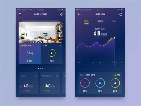 30 Inspiring examples of smart home app – Muzli -Design