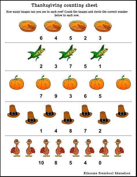 thanksgiving worksheets for preschoolers thanksgiving