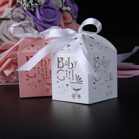Custom gift boxes she will love. 50pcs Laser cut baby car party favor box candy box ...