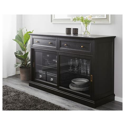 Sideboard Ikea Schwarz by Malsj 214 Sideboard Black Stained Tv Unit Schrank