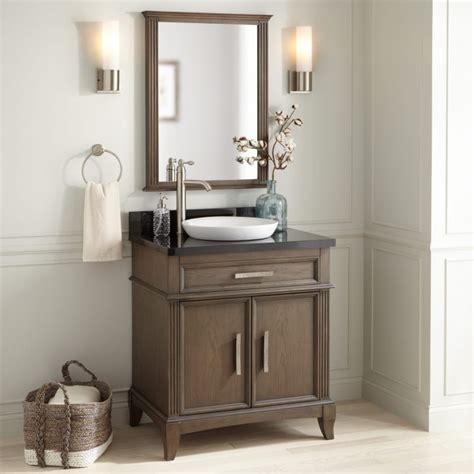 """When you combine bad lighting above your sink. 30"""" Livia Vanity for Semi-Recessed Sink - Gray Wash ..."""
