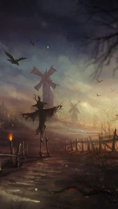 halloween scarecrow iphone wallpaper sentimental