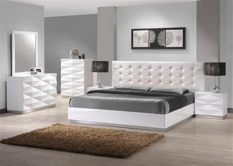 stylish leather modern master bedroom set springfield