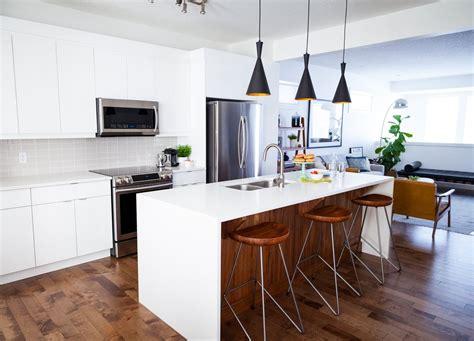 how do you design a kitchen white and walnut modern kitchen 204 park 8438