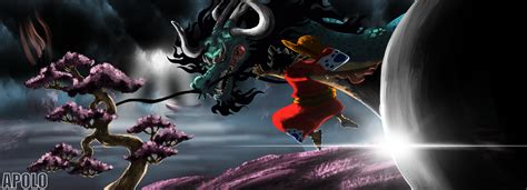 luffy  kaido dragon hd wallpaper background image