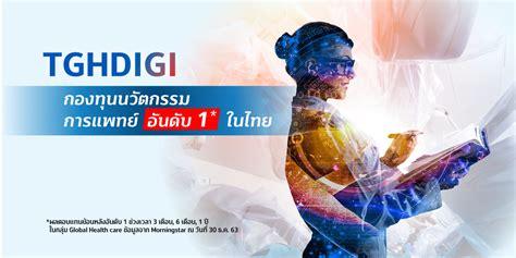 TGHDIGI กองทุนเปิด ทิสโก้ โกลบอล ดิจิตอล เฮลธ์ อิควิตี้ | ธนาคารทิสโก้ จำกัด (มหาชน)