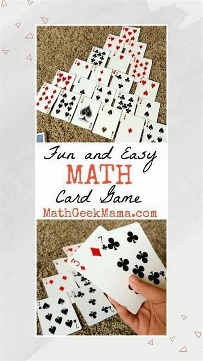 Math Fun Card Easy Pyramid Games Ten