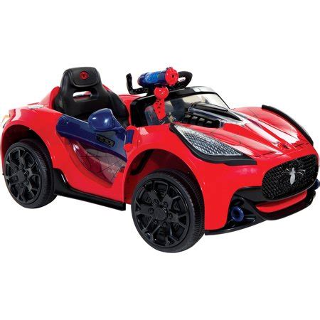 spider man super car  volt battery powered ride