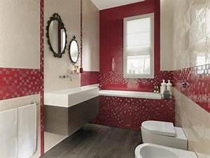 awesome mosaique salle de bain rouge images amazing With salle de bain rouge et beige
