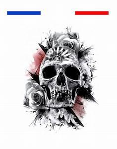 Dessin Tete De Mort Avec Rose : tatouage t te de mort r aliste temporaire mon petit tatouage temporaire ~ Melissatoandfro.com Idées de Décoration