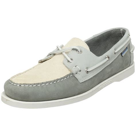 Boat Terms Left And Right by Sebago Mens Spinnaker Boat Shoe In Gray For Grey