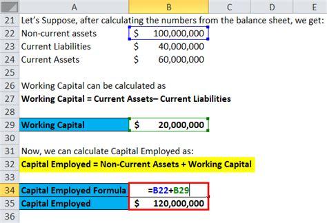 capital employed formula calculator excel template