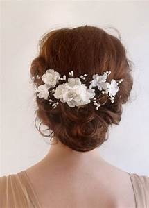 Accessories Bridal Hair Comb White Flower 2226176