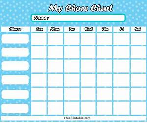 Free Printable Customizable Chore Charts