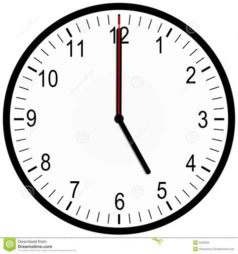 horloge sur bureau horloge de bureau 5 heures images libres de droits image