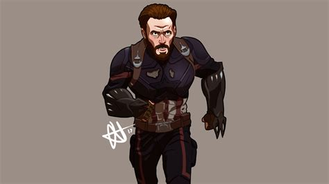 Captain America Animated Wallpaper - captain america infinity war artwork hd