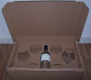 Carton Pour Verre : coffret carton 1 bouteille et 4 verres att packaging ~ Edinachiropracticcenter.com Idées de Décoration
