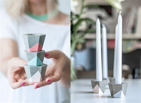 kerzenhalter selber machen weihnachtsgeschenke selber machen kerzenhalter aus beton himbeer