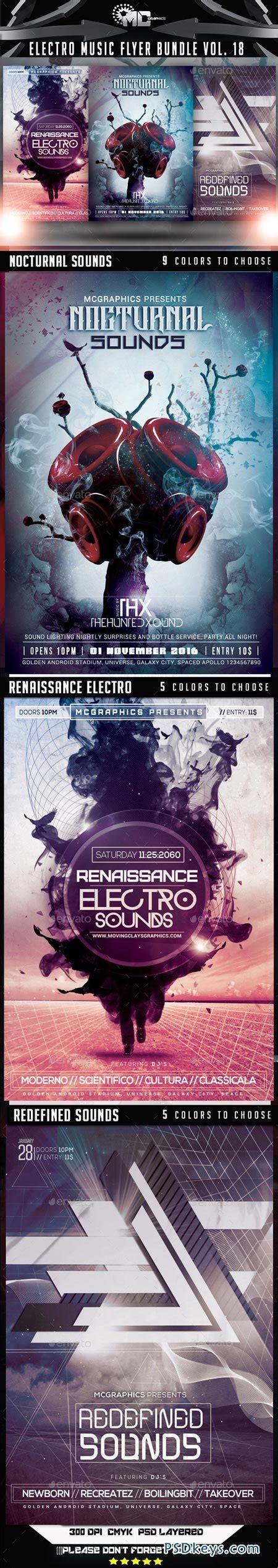 electro flyer poster template vol 4 torrent electro music flyer bundle vol 18 9072558 187 free download