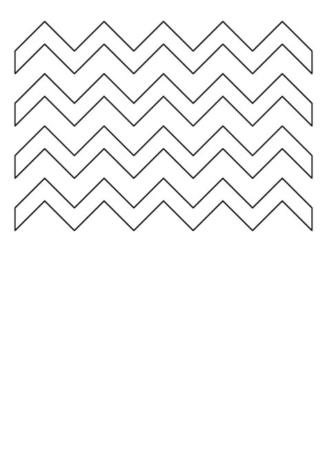 zig zag pattern template printable
