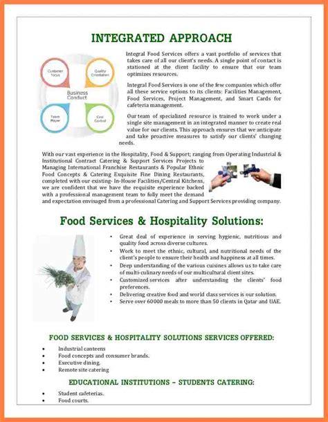 cuisine co 8 estate company profile sle company letterhead