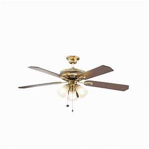 Hampton bay glendale in flemish brass ceiling fan