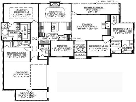 single story 4 bedroom house plans 4 bedroom single family 4 bedroom one story house plans
