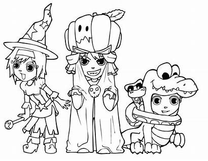 Halloween Coloring Pages Printable Printing Costumes Costume
