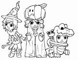 Halloween Coloring Pages Printable Costumes Printing Costume Colorings Enlarge Before sketch template