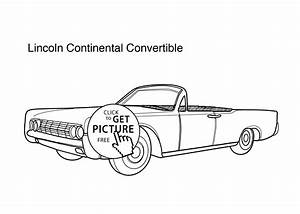 lincoln coloring pages - super car lincoln continental convertible coloring page