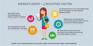 Lohn Berechnen Brutto Netto : werkstudenten wie viel netto vom brutto ~ Themetempest.com Abrechnung