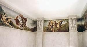 fresque salle de bains fresques en trompe l39oeil With fresque murale salle de bain