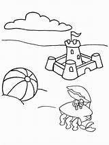 Coloring Summer Pages Colouring Fun Beach sketch template