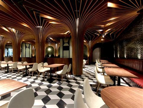 New Trendy Restaurant & Bar by CAA   InteriorZine