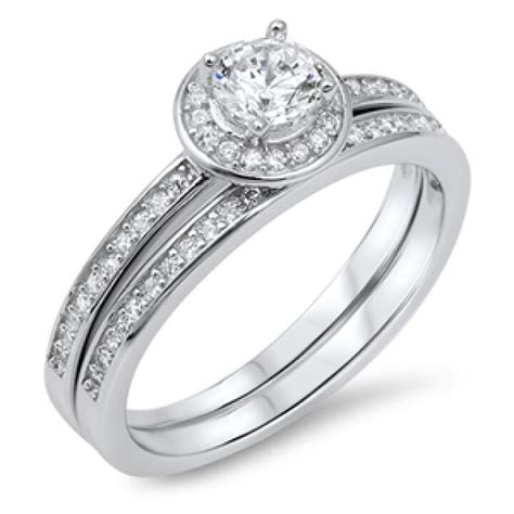 silver wedding ring cz sterling silver 925 best price jewelry selectable ebay