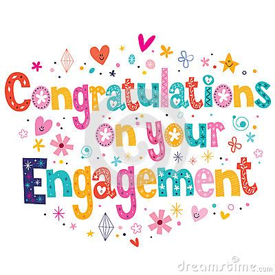 congratulations   engagement card stock vector