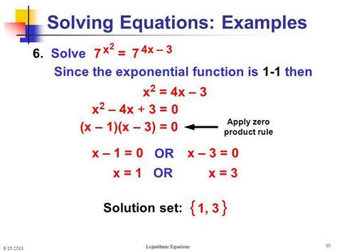 Logarithmic Equations  Ppt Video Online Download
