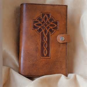 Hand Tooled Leather Bible Cover
