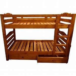 Lit Superposé Tiroir : lits superpos s pic a coeur 2 tiroirs mobilier ~ Teatrodelosmanantiales.com Idées de Décoration