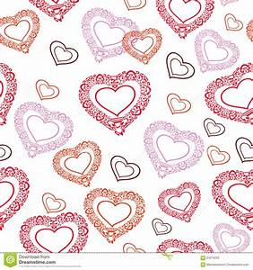 Vector Seamless Texture With Decorative Colorful Hearts ...