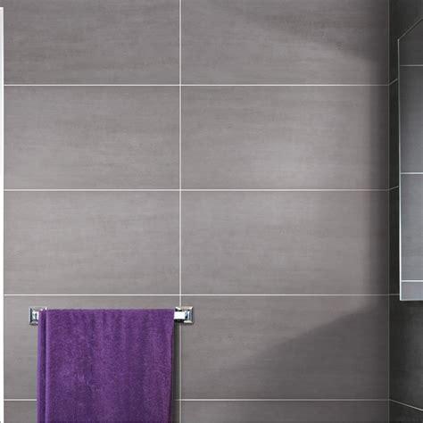 carrelage sol et mur gris clair eiffel l 30 x l 60 4 cm leroy merlin