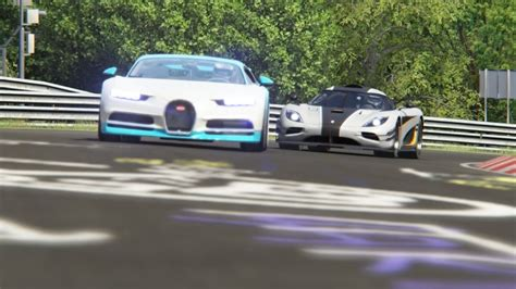 Video produced by assetto corsa racing simulator www.assettocorsa.net/en/ thanks for watching! Battle Bugatti Chiron vs Koenisegg One:1 vs Pagani Huayra at Nordschleife - YouTube