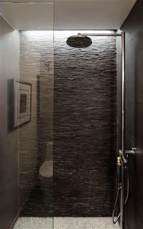 Tiling A Bathtub Enclosure by Houston Loft Industrial Bathroom Houston By C O N