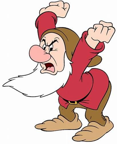 Grumpy Dwarf Disney Clip Clipart Snow Doc