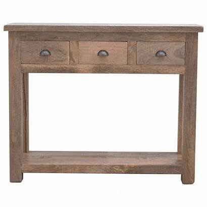 Console Table Drawers Hallway Wood Solid Artisan